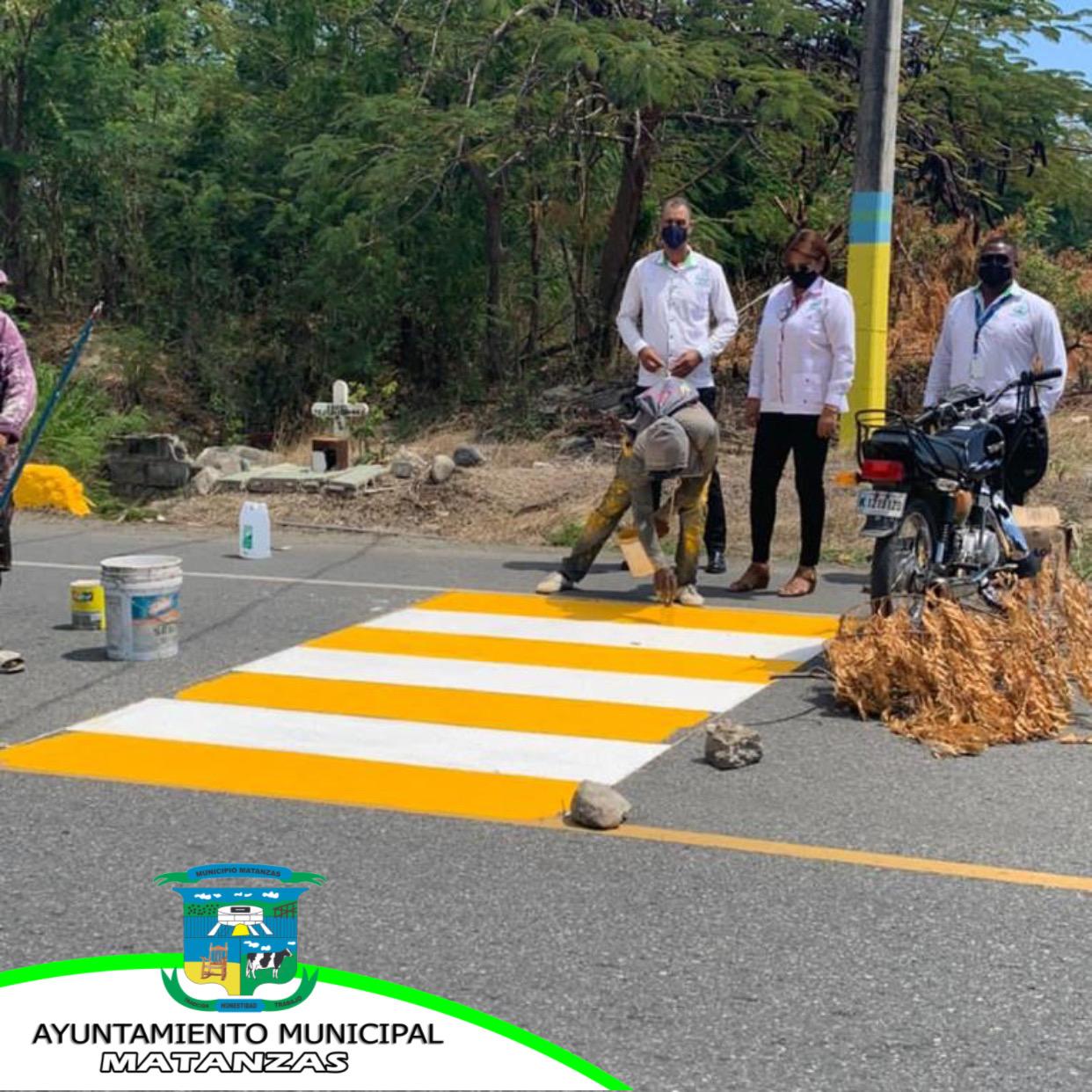 Damos inicio al programa de señalización en el Municipio de Matanzas.